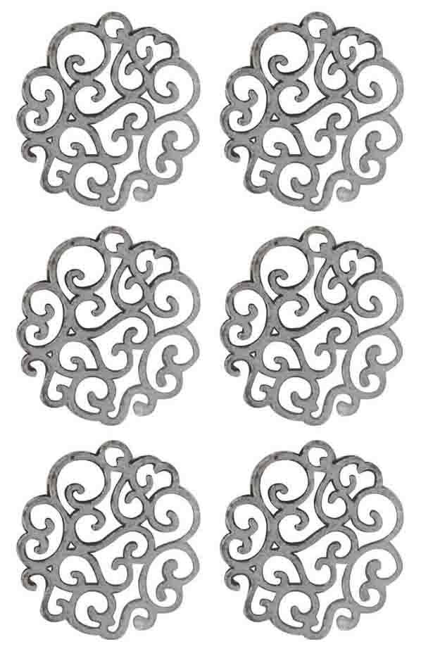 Ultimate Crafts  Metal Charms SWIRLED DOILY