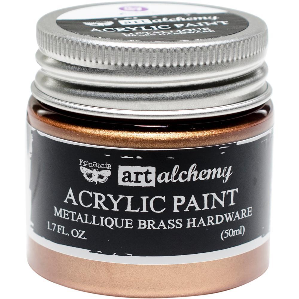 FINNABAIR Metallique Acrylic Paint - Brass Hardware