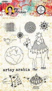 Art by Marlene - Stamp - Camel Travel  Artsy Arabia