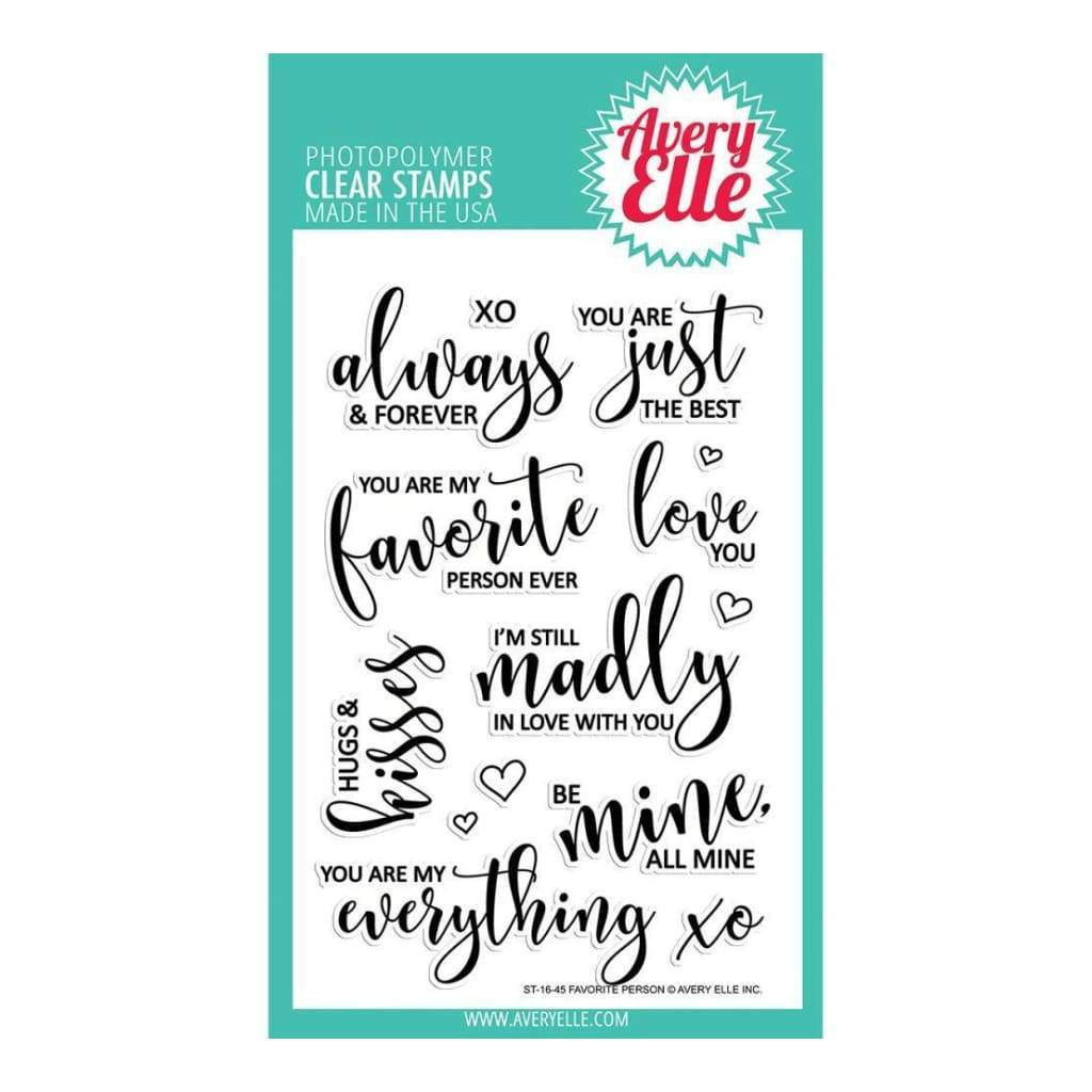 AVERY ELLE - Favourite Person Stamp Set