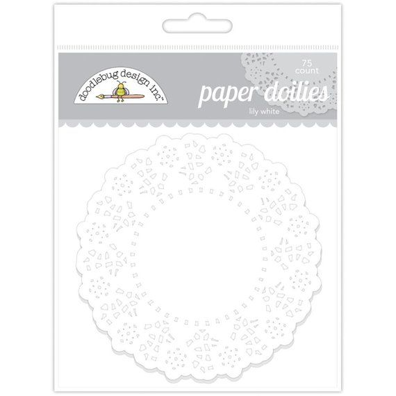 DOODLEBUG  Paper Doilies - Lily White