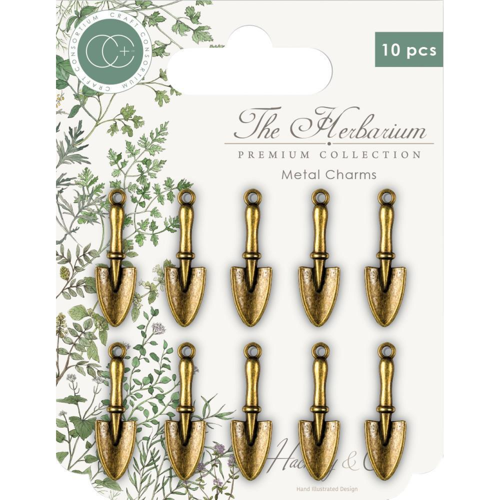 CRAFT CONSORTIUM - The Herbarium Metal Charms. Trowel Charms 10pc