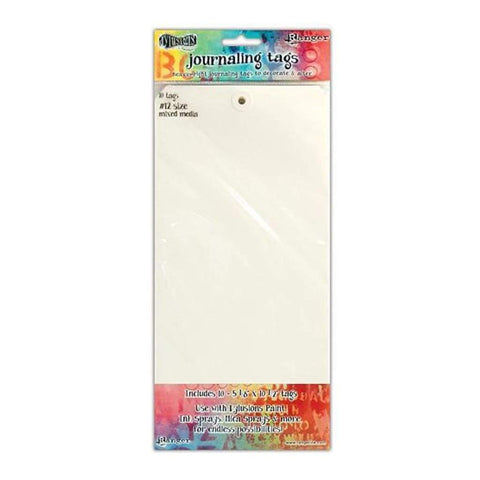 RANGER Dylusions - Journaling Tags Size #12 . 10pc Mixed Media