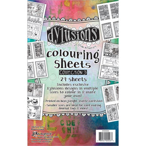 DYLUSIONS Colouring sheets - collection 3. 24 Sheets