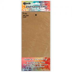 RANGER Dylusions - Journaling Tags Size #10 . 10pc KRAFT