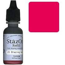 STazON - Fast Drying Solvent Ink Refill. Blazing Red
