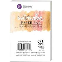 Watercolor Paper Pad 2.5in x 4.25in 24 Sheets PRIMA