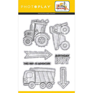 PHOTOPLAY little Builder Polymer Stamps 7pc