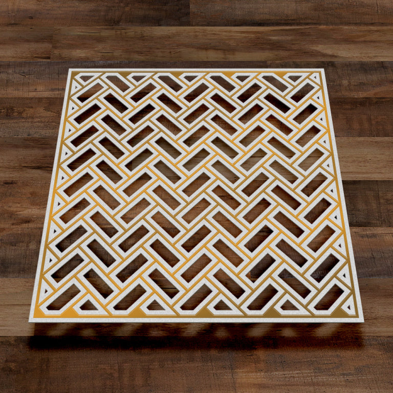 COUTURE CREATIONS Gentleman Crafter Parquet Tiles - Cut Foil and Emboss Die