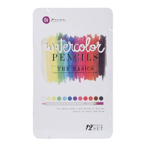 PRIMA Water Color Pencils - The Basics 12 PC Set