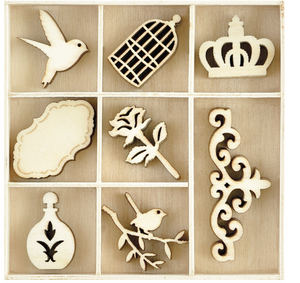 KAISERCRAFT Wooden Flourish Pack - Pretty