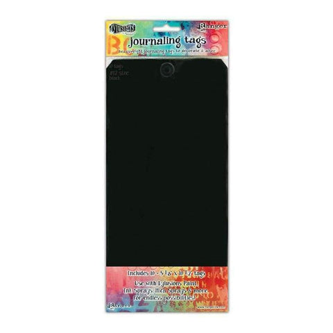 RANGER Dylusions - Journaling Tags Size #12 . 10pc Black