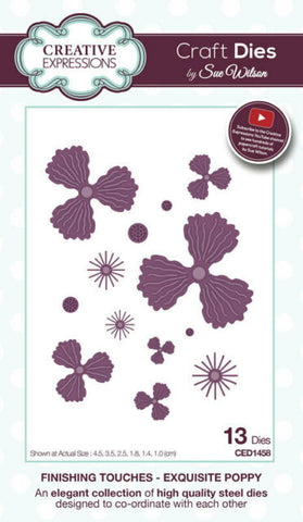 CREATIVE EXPRESSIONS Dies by Sue Wilson - Exquisite Poppy 13pc