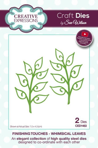 CREATIVE EXPRESSIONS Dies by Sue Wilson - Whimsical Leaves 2pc