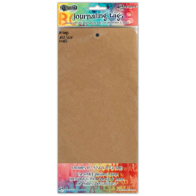 RANGER Dylusions - Journaling Tags Size #12 . 10pkt  KRAFT