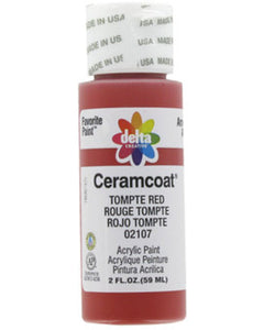 CERAMCOAT Acrylic Paint 59ml 2floz  - Tompte Red