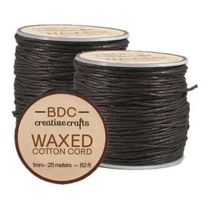 Waxed Cotton Cord 25m BROWN
