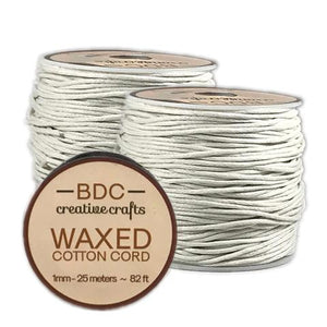 CREATIVE CRAFTS Waxed Cotton Cord 25m Ivory