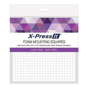 X-PRESS IT   Foam Mounting Squares 6 x 6mm