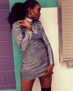 KIARI Sequins Long Sleeve Dress