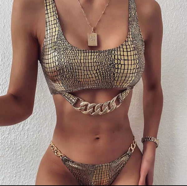 Gold Chain Swim Wear