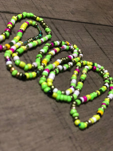 LIME OUT with Pink (Single Strand)