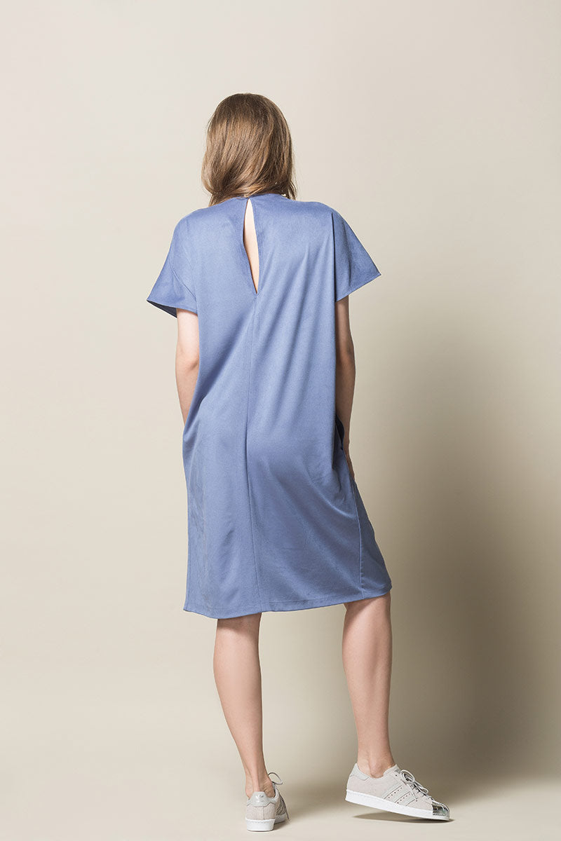 ASTA Belted Shirt Dress - Light Blue