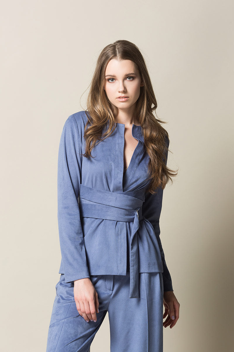 HERA Belted Blazer - Light Blue