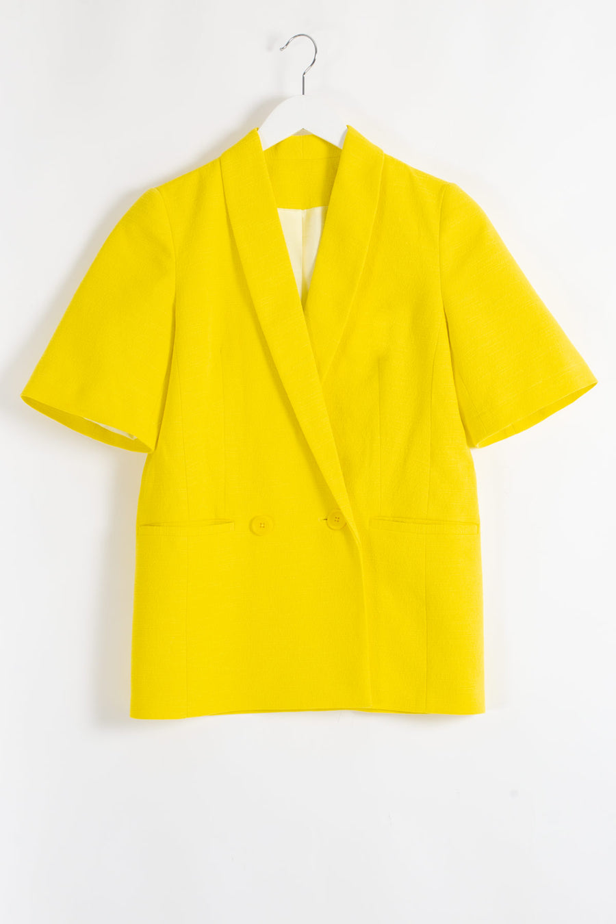 JULES Short Sleeved Jacket - Yellow