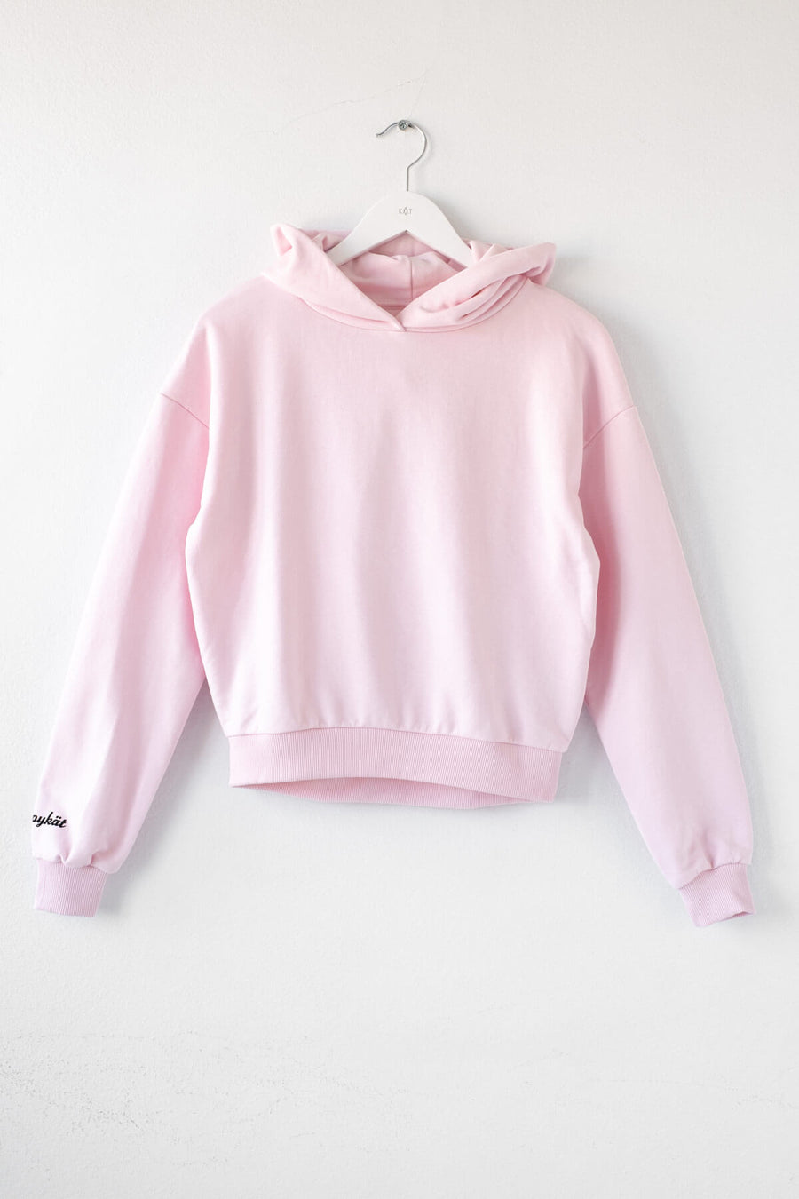 KÄT COPYKÄT cropped hoodie in light pink