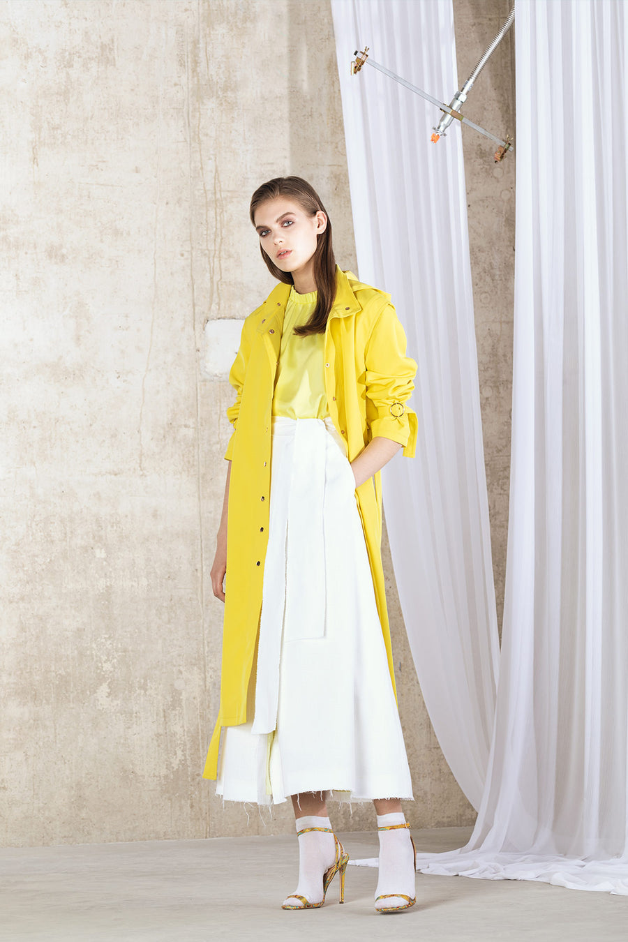 KIK Hooded Raincoat - Yellow
