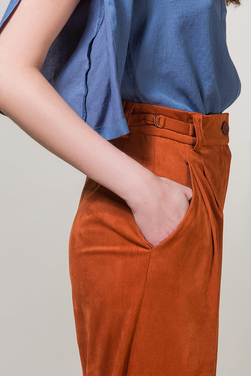 EDIL Wide Highwaisted Trousers - Brick Orange
