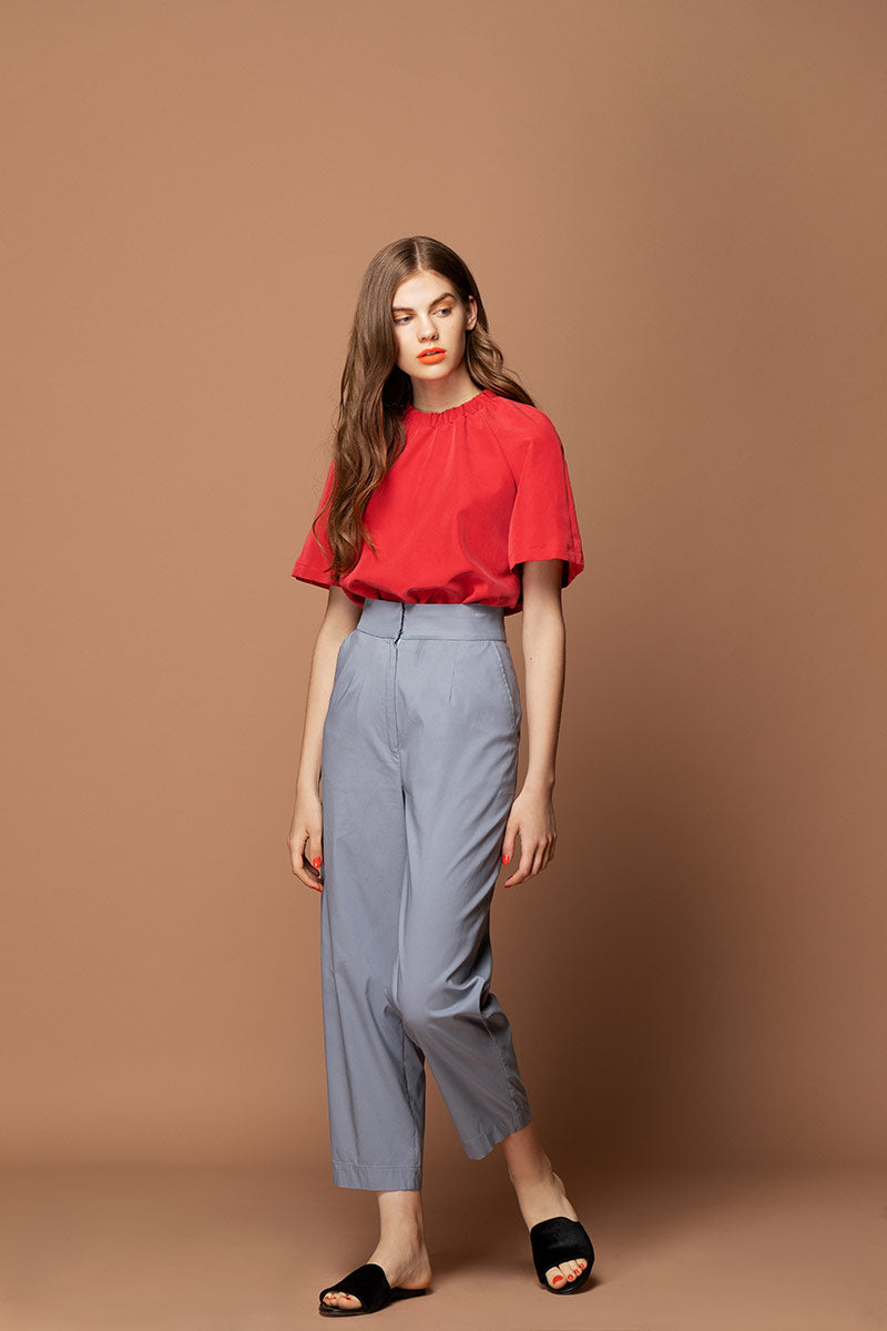 EMMA Highwaisted Cropped Trousers - Grey