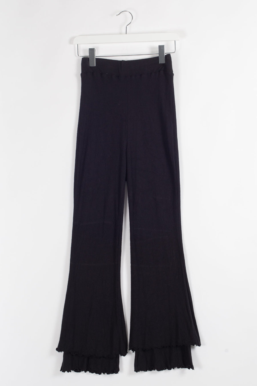 Cropped Stretch-bamboo Flared Pants - Black