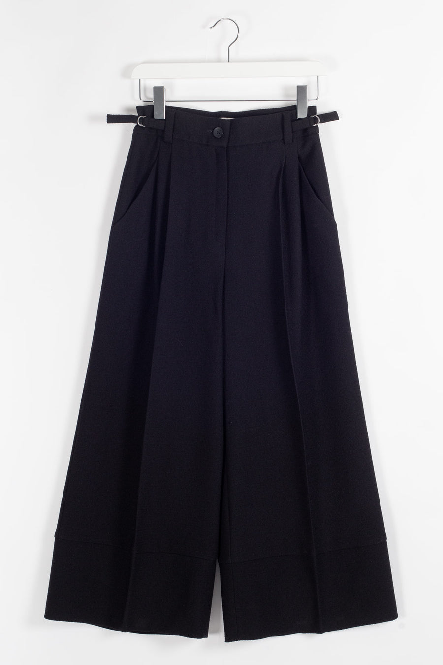 EDIL Wide Highwaisted Cropped Trousers - Black