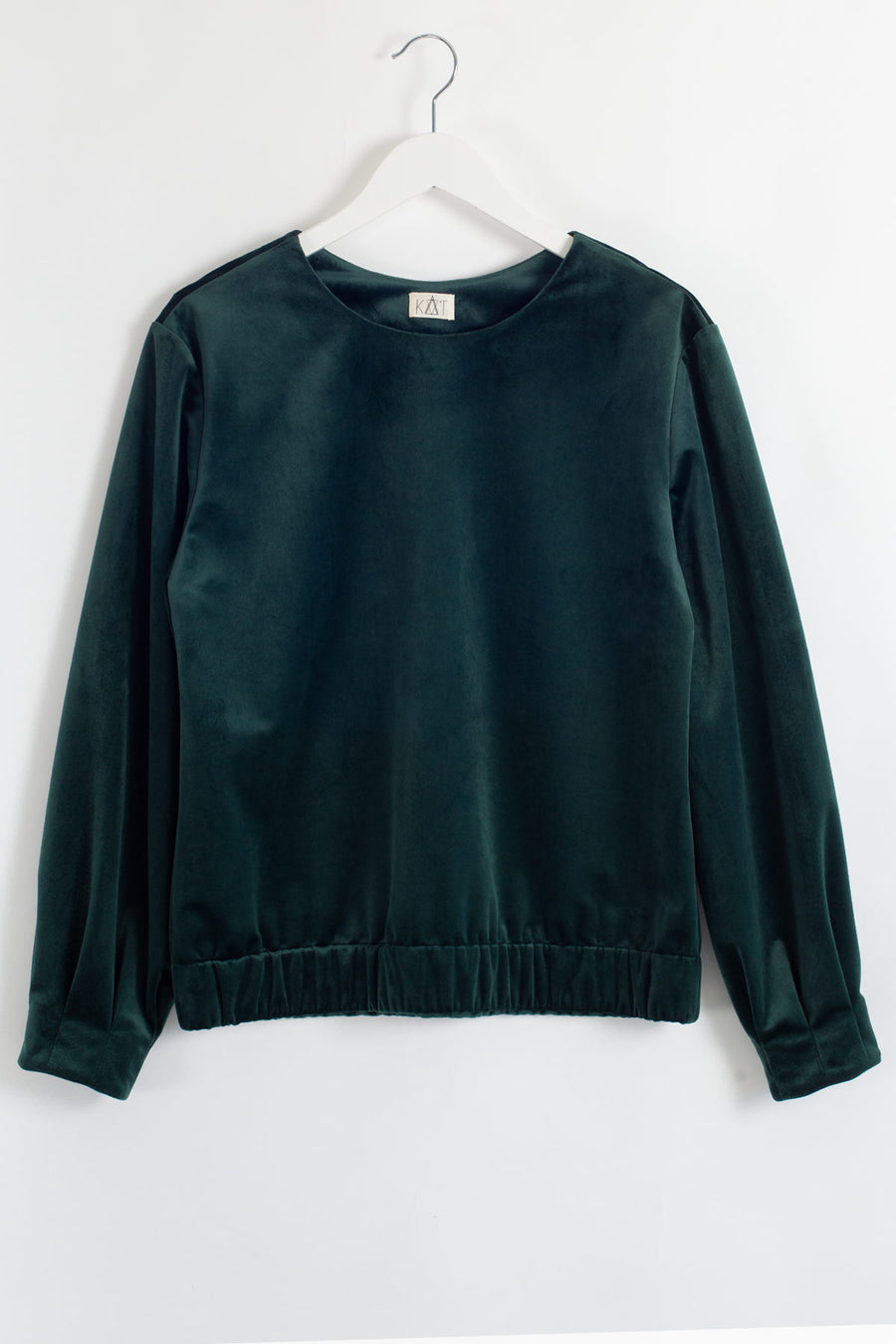 HARRIET Velvet Pullover - Green