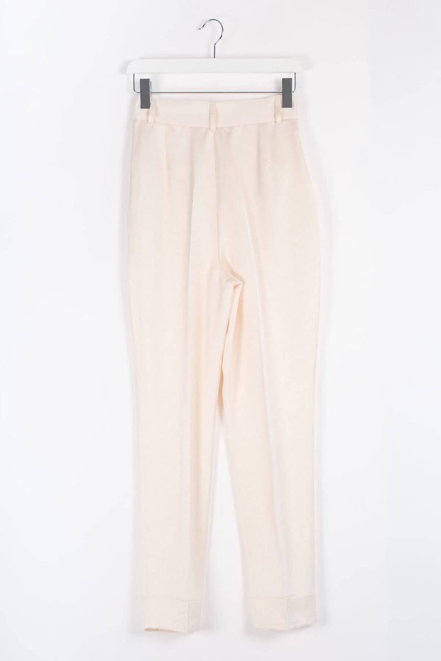 Viscose Straight-leg Trousers - Ivory