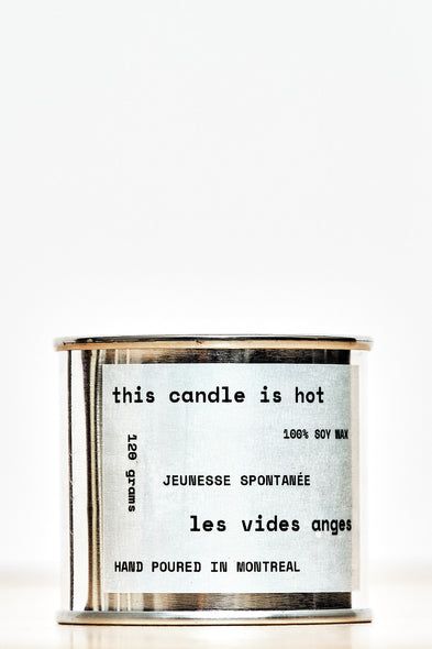 Jeunesse Spontanée Soy Candle - Les Vides Anges homecare collection