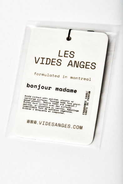 Bonjour Madame Fragrance Card - Les Vides Anges card collection