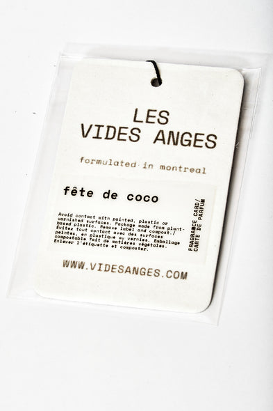 Fête de Coco Fragrance Card - Les Vides Anges card collection