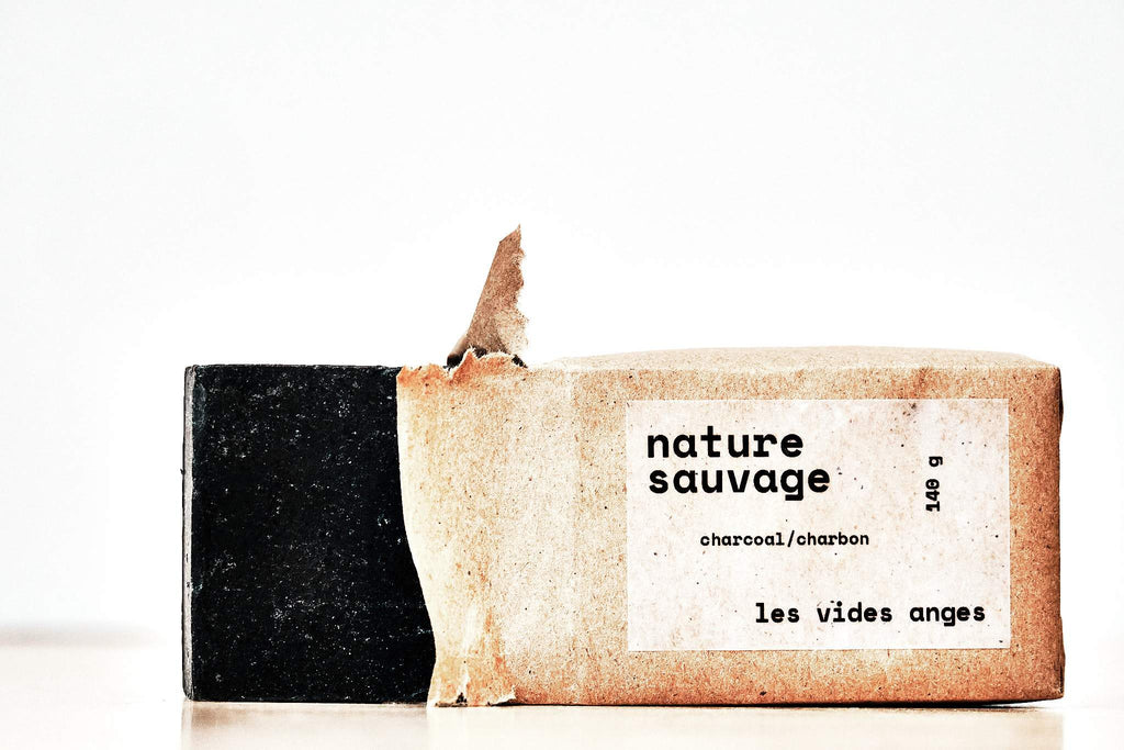 Nature Sauvage Charcoal Bar Soap - Les Vides Anges bodycare collection