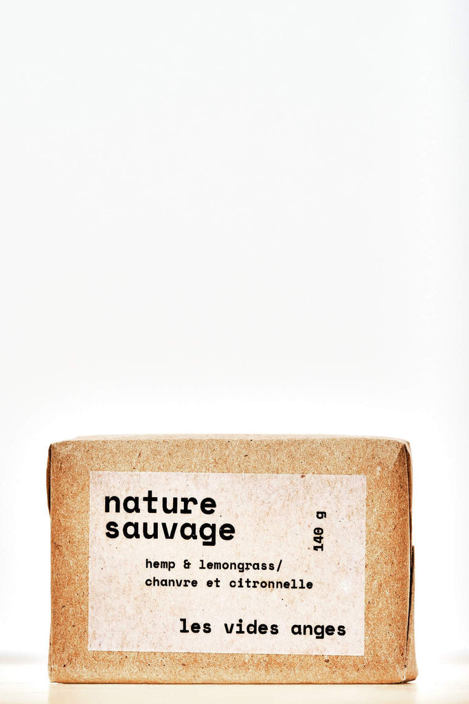 Nature Sauvage Hemp/Lemongrass Bar Soap - Les Vides Anges bodycare collection
