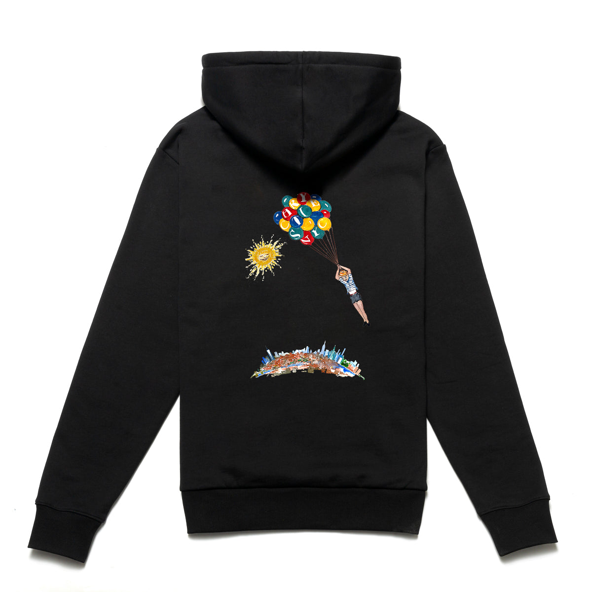 Load image into Gallery viewer, NYC Balloon boy hoodie_Black