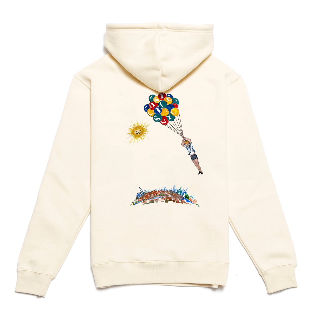 Load image into Gallery viewer, NYC Balloon boy hoodie_Bone