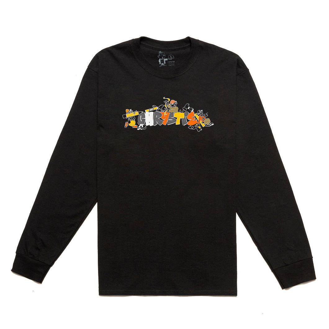 NYC Workers long sleeve shirt_Black