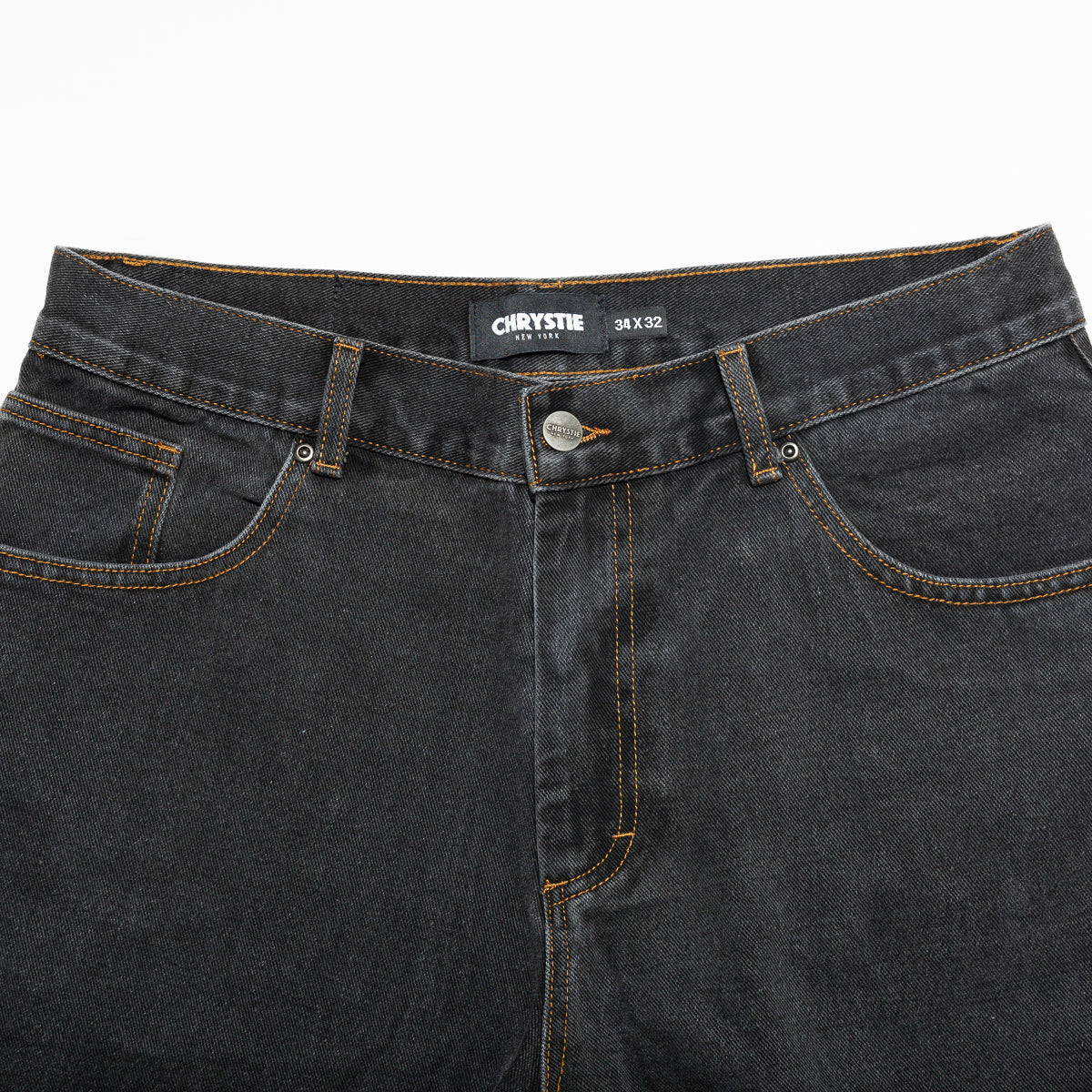 Load image into Gallery viewer, Baggy fit denim pants_Washed black