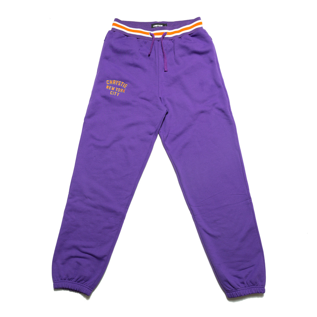 Varsity logo sweatpants_Purple