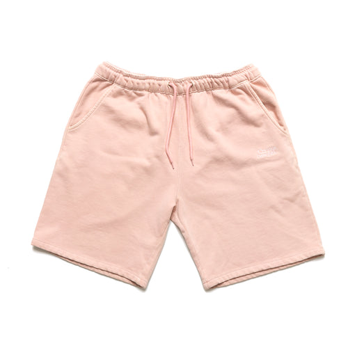 Garment dye Classic logo French Terry sweatshorts_Pale Pink