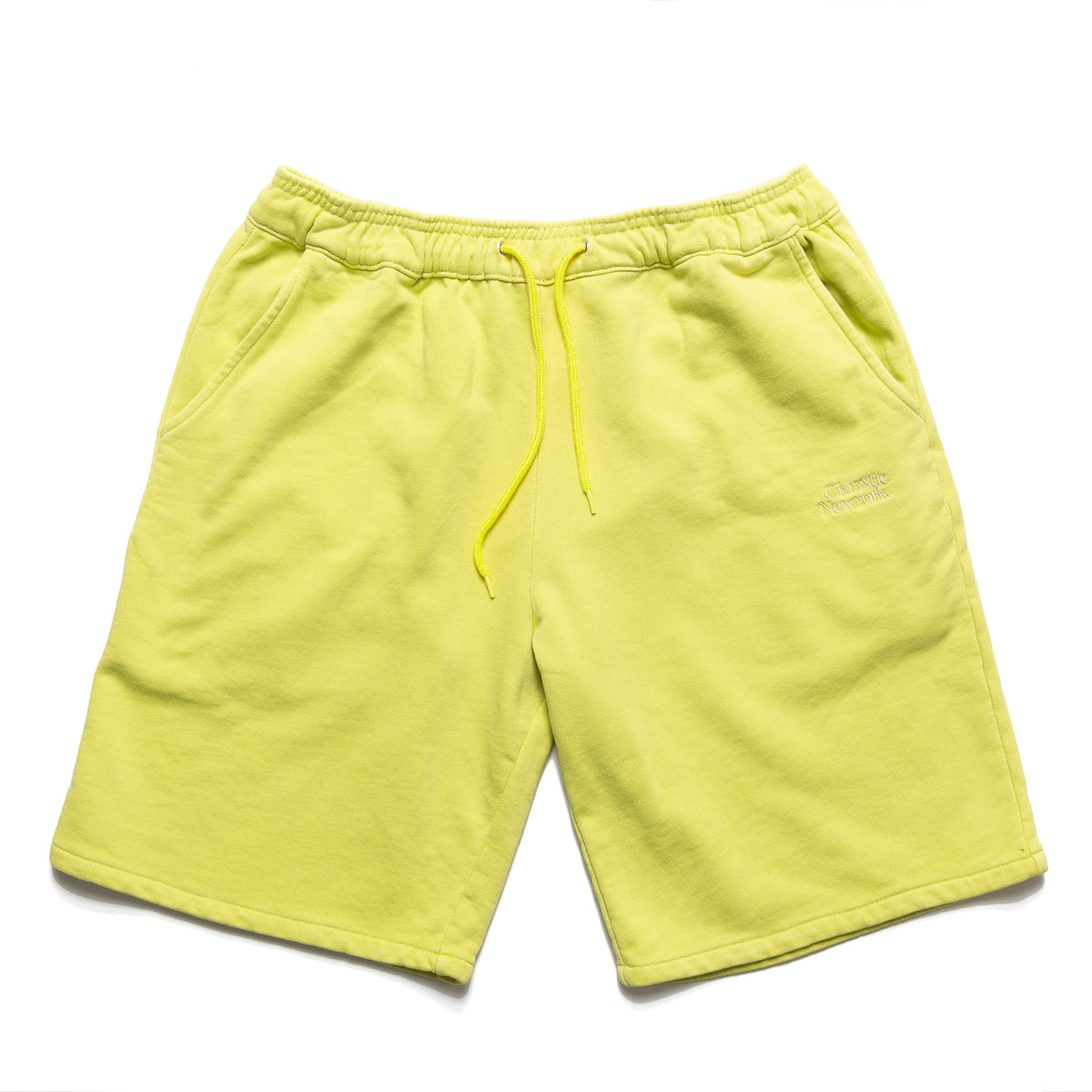 Load image into Gallery viewer, Garment dye Classic logo French Terry sweatshorts_Apple Green