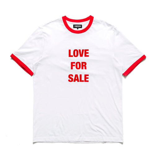 Love For Sale ringer T-shirts_White